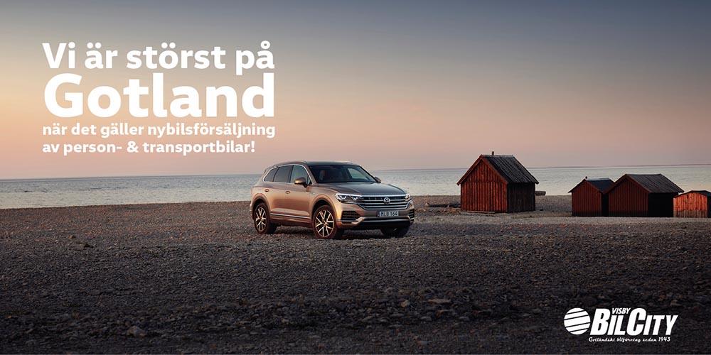 Annons för Visby BilCity
